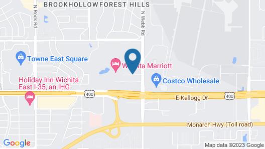 Hampton Inn Wichita East Map