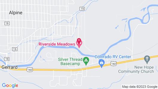 Riverside Meadows Cabins Map