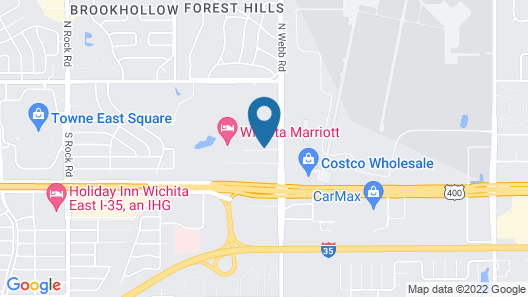 Extended Stay America Suites Wichita East Map