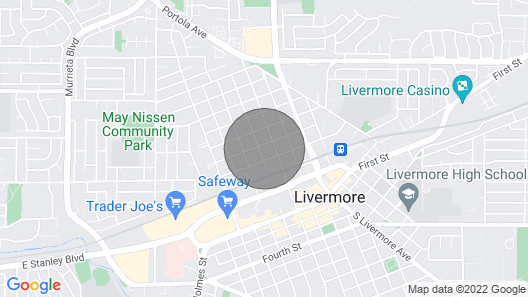 Cozy 1 Bedroom Close to Downtown Livermore Map