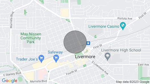 Quaint 2br/1ba Downtown Livermore Map