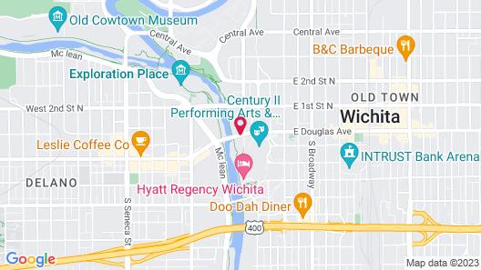 Drury Plaza Hotel Broadview - Wichita Map