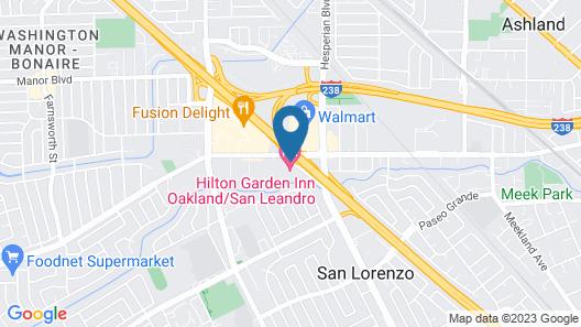 Hilton Garden Inn Oakland / San Leandro Map