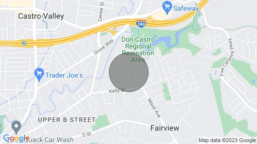 ★Charming Studio in Hayward ★ Map