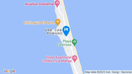 Poseidon La Manga Hotel & Spa - Adults Only Map