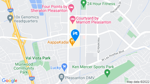 HYATT house Pleasanton Map