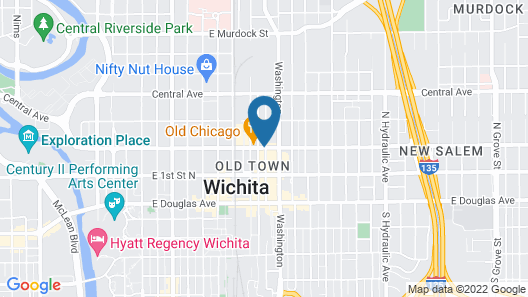 Courtyard by Marriott Wichita At Old Town Map
