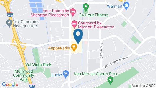 Extended Stay America Pleasanton - Chabot Drive Map