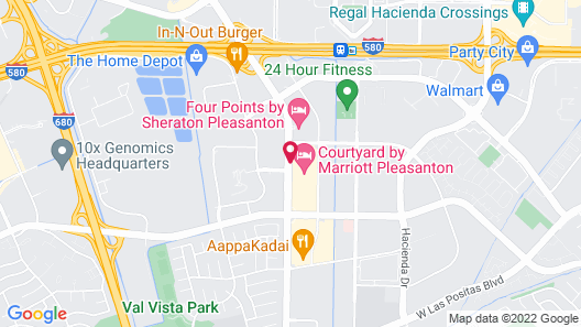 Courtyard by Marriott Pleasanton Map