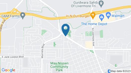 Studio Inn Livermore Map