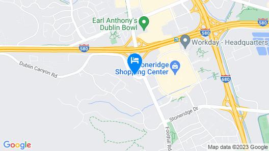 Residence Inn By Marriott Pleasanton Map