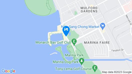The Marina Inn on San Francisco Bay Map