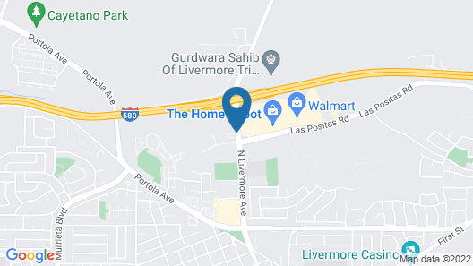 Hawthorn Suites by Wyndham Livermore Wine Country Map