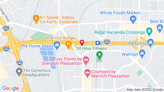 Best Western Plus Pleasanton Inn Map