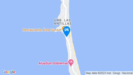 Apartamentos Turísticos Hawaii 4-5 Map