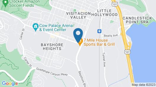 BridgePoint Inn Daly City Map