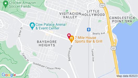 Geneva Motel Daly City Map