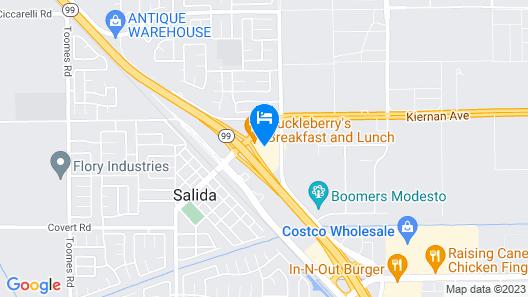 Hampton Inn & Suites Modesto-Salida Map