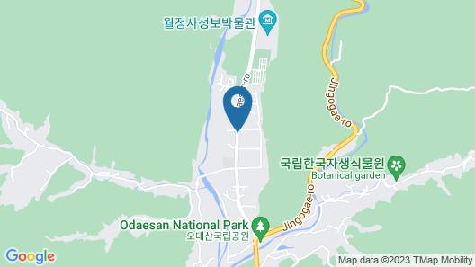 Odae Mountain Healing Town-Water Light Map
