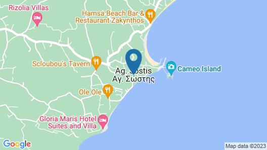 Zakynthos Seascape Map