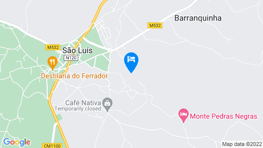 Romantic quiet country house, near the beach, southwest coast, Portugal Map