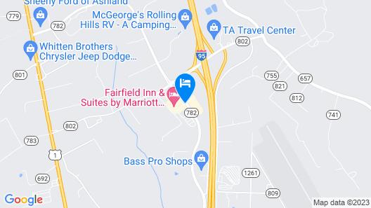 Fairfield Inn & Suites by Marriott Richmond Ashland Map