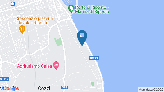 Apartment With 2 Bedrooms in Riposto, With Wonderful Mountain View and Wifi - 100 m From the Beach Map