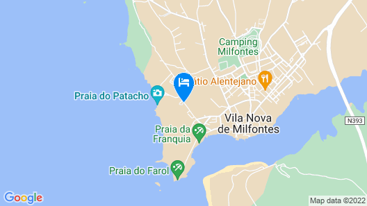 MIMI - Milfontes Miami Penthouse with rooftop infinity pool - Duna Parque Group  Map