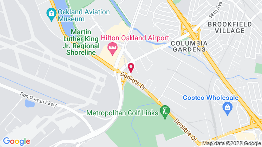 Holiday Inn Express Hotel & Suites Oakland-Airport Map