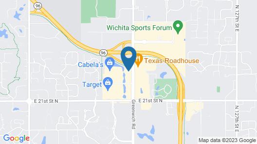 Hampton Inn & Suites Wichita Northeast Map