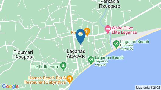 Laganas Dreams Map