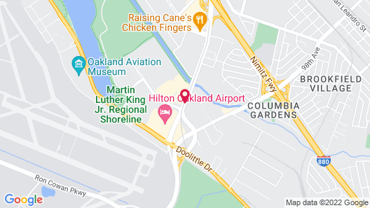 Oakland Airport Executive Hotel Map