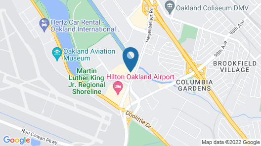 SpringHill Suites by Marriott Oakland Airport Map