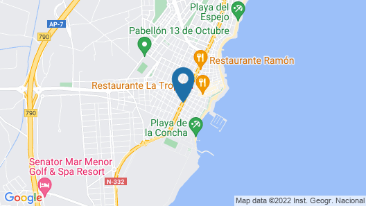 Apartment With 3 Bedrooms in Los Alcázares, With Terrace and Wifi - 300 m From the Beach Map