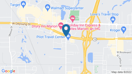 Fairfield Inn and Suites by Marriott Marion Map