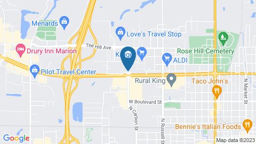 Americas Best Value Inn Marion, IL Map