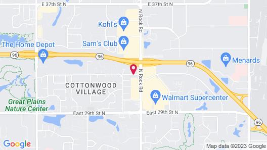 Best Western Wichita Northeast Map