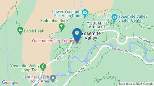 Yosemite Valley Lodge Map