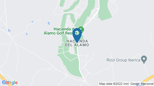 Stunning Penthouse With Mountain and Golf Course Views in Hacienda del Alamo Map