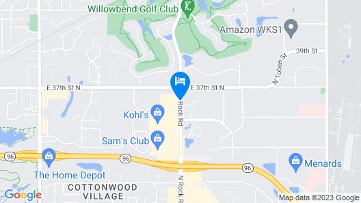 Super 8 by Wyndham Wichita North Map
