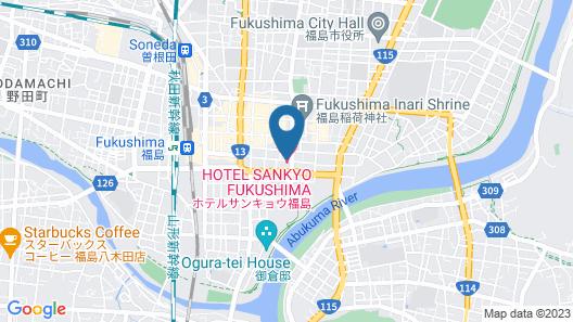 Hotel Sunroute Plaza Fukushima Map