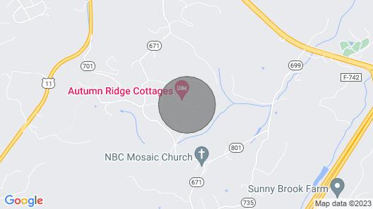 Deerfield Honeymoon Cottage at Autumn Ridge Map