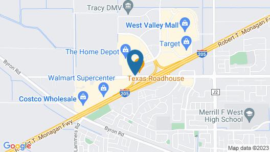 Hampton Inn Tracy-Stockton Map