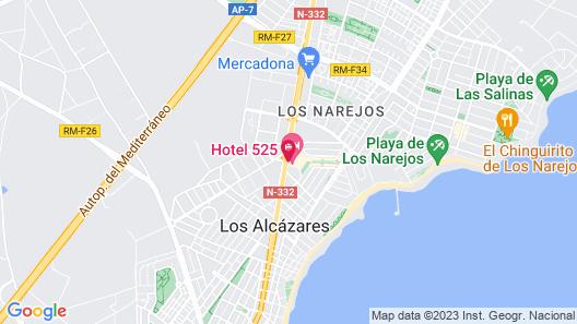 Hotel 525 Map