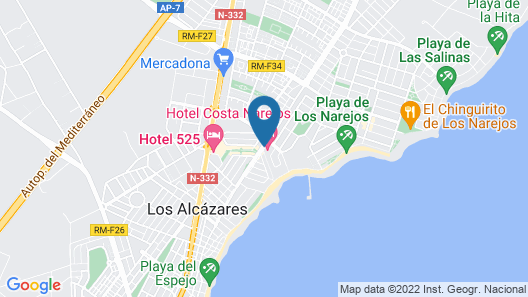 Hotel Costa Narejos Map