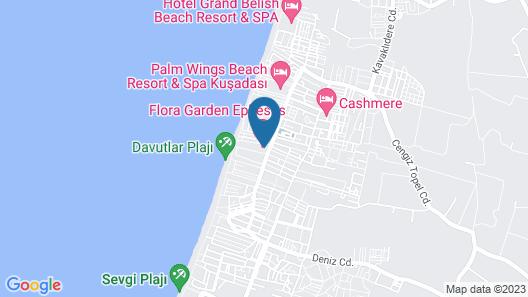 Flora Garden Ephesus Hotel Kuşadası - All Inclusive Map
