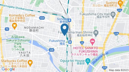 Richmond Hotel Fukushima Ekimae Map