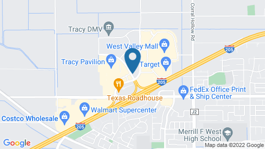 Extended Stay America Suites Stockton Tracy Map