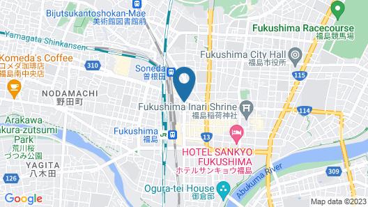 Toyoko Inn Fukushima-eki Higashi-guchi No.1 Map