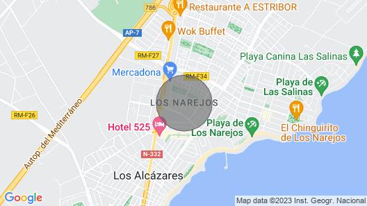 Semi Detached Bungalow/villa in Los Narejos ,los Alcazares Murcia Map